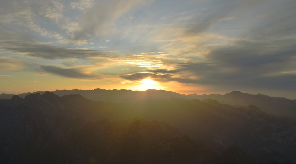 华山 日落 2 1038x576 - 我在华山看日落