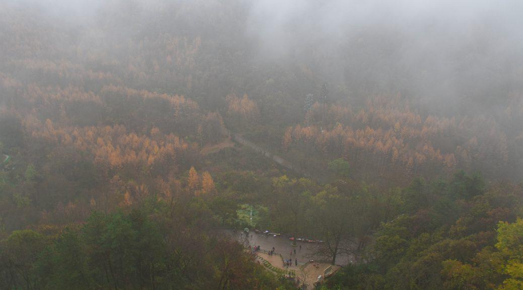 麦积山 大雾 1 1038x576 - 我在麦积山拍雾