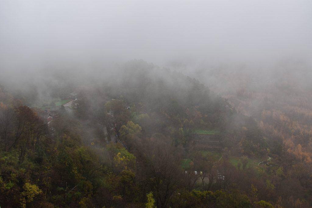 麦积山 大雾 2 1024x683 - 我在麦积山拍雾